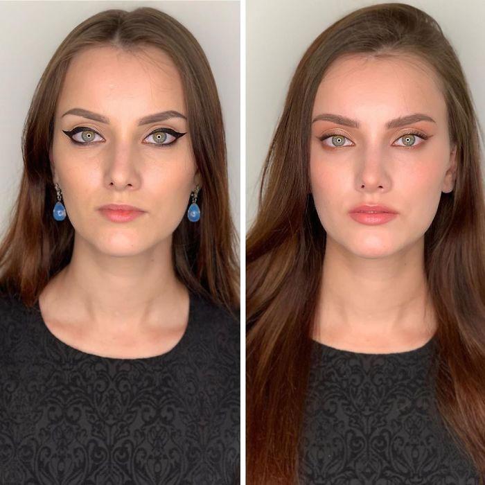Hogyan készíti el egy nő a saját sminkjét és hogyan csinálja egy profi